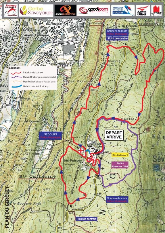 Circuit 26ème Trophée VTT Annecy