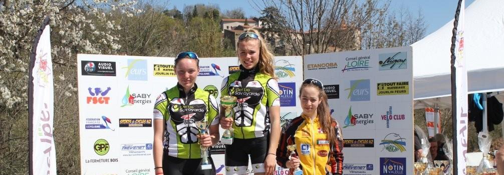 Annecy Cyclisme Compétition podium pour Loana et Laetitia