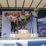 Annecy Cyclisme Compétition podium de Loana en cadette