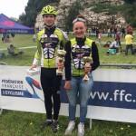 Annecy Cyclisme Compétition Basile et Laetitia